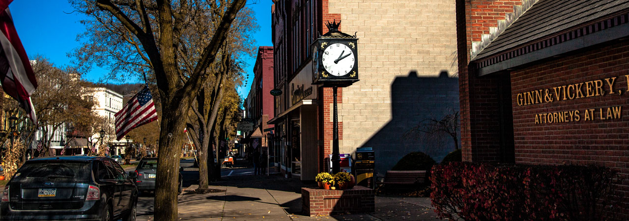 clock main street wellsboro